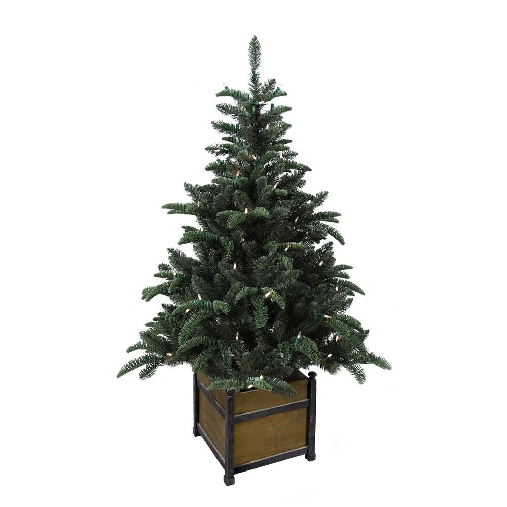 Pre Lit Porch Christmas Trees  Home Accents Holiday 4 ft Pre Lit Noble Artificial