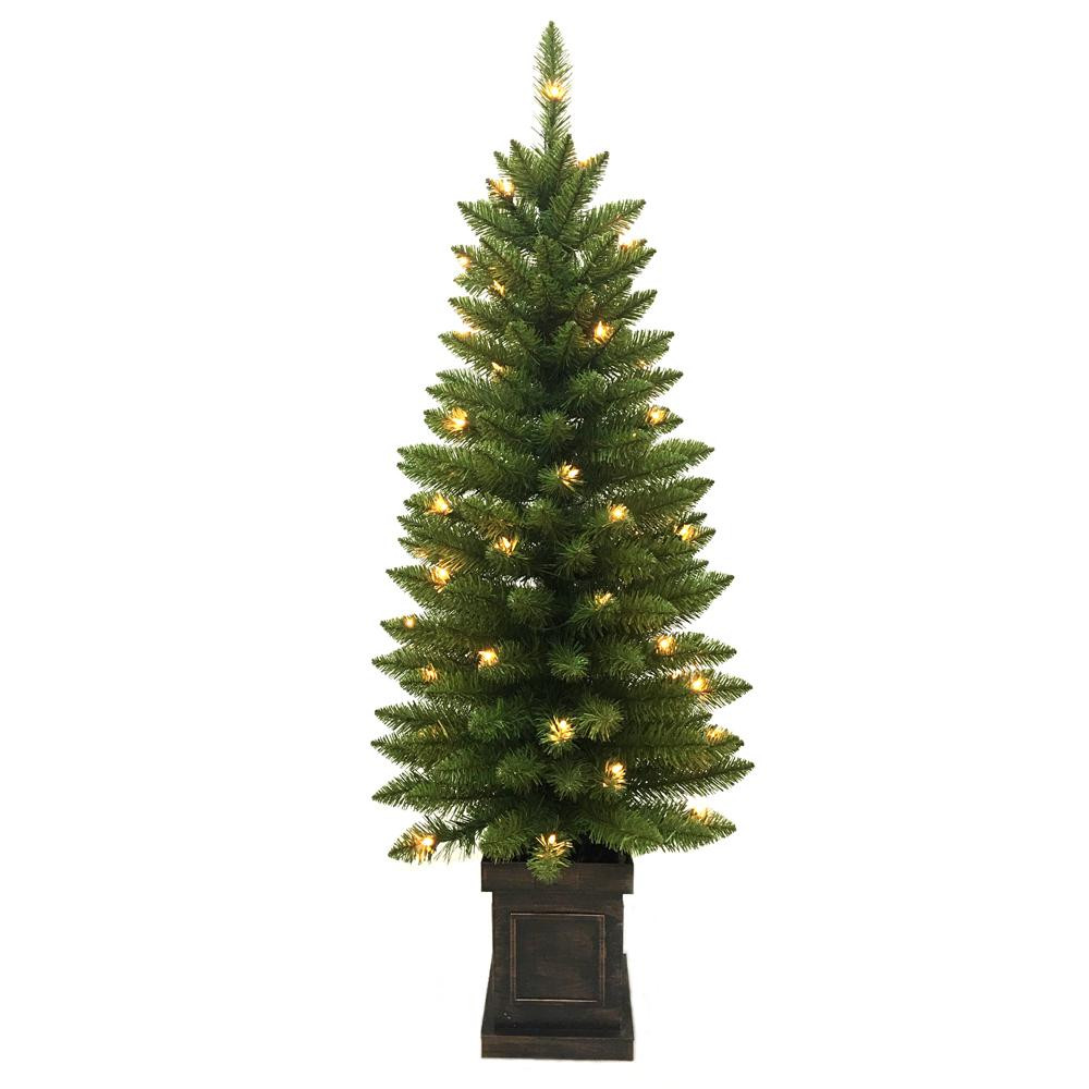 Pre Lit Porch Christmas Trees Luxury Home Accents Holiday 4 Ft Pre Lit Douglas Artificial