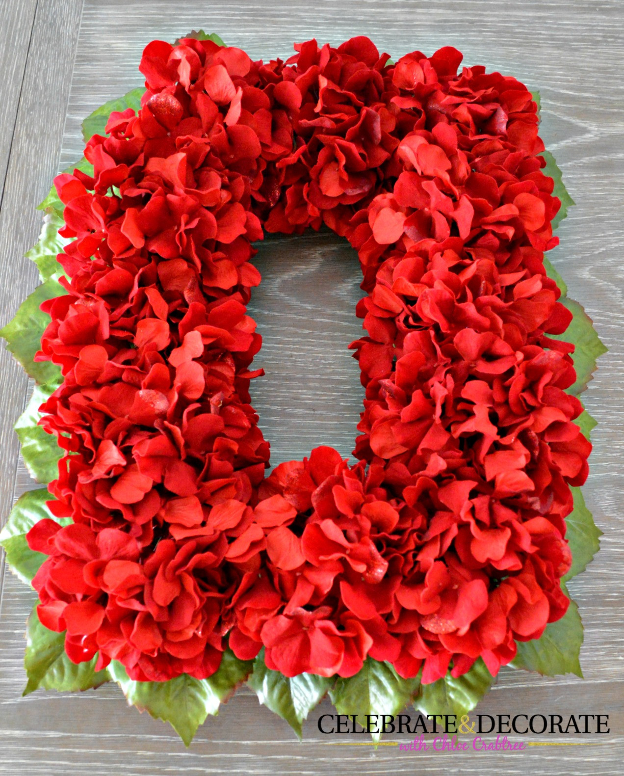 Red Christmas Flower  An Easy DIY Red Flower Christmas Wreath Celebrate & Decorate