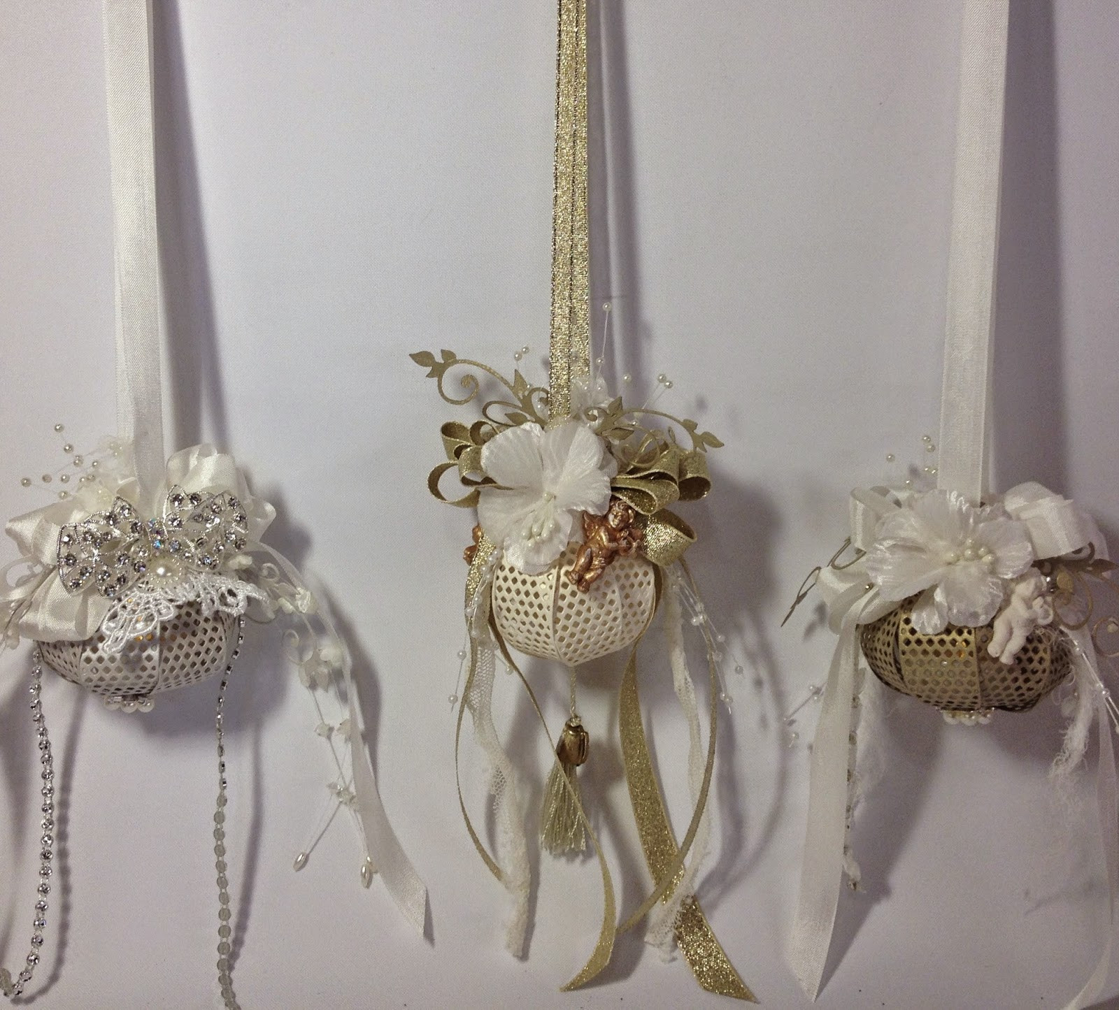 Shabby Chic Christmas Ornaments  annes papercreations How to make a Christmas lightning