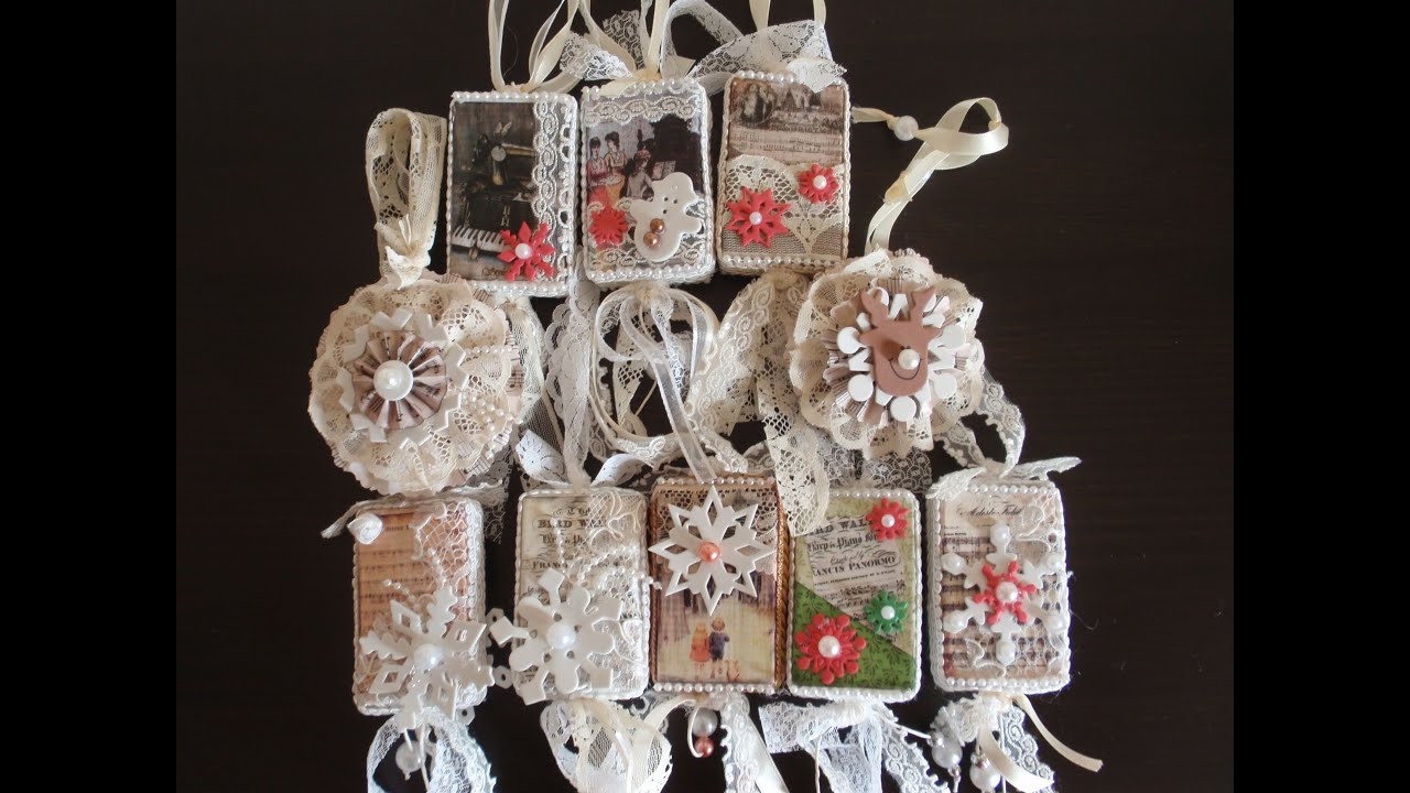 Shabby Chic Christmas Ornaments  Christmas Ornaments with vintage images So Shabby Chic