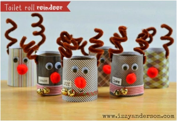 Toilet Paper Roll Christmas Craft  20 Festive DIY Christmas Crafts From Toilet Paper Rolls