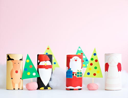 Toilet Paper Roll Christmas Craft  Easy Christmas Toilet Paper Roll Crafts
