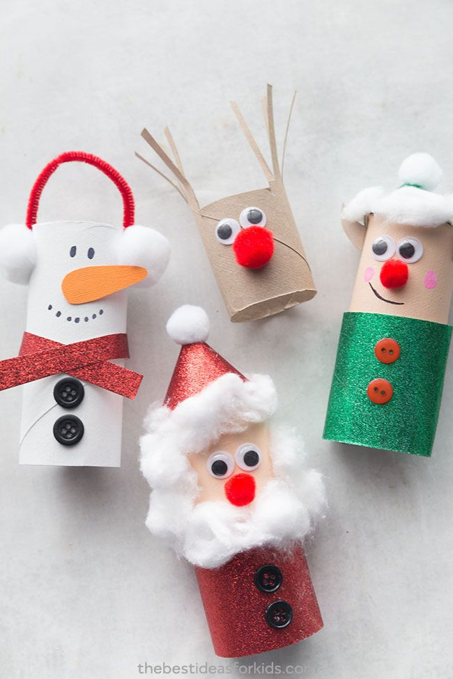 Toilet Paper Roll Christmas Craft  The Most Adorable Christmas Crafts For Kids And Adults Alike