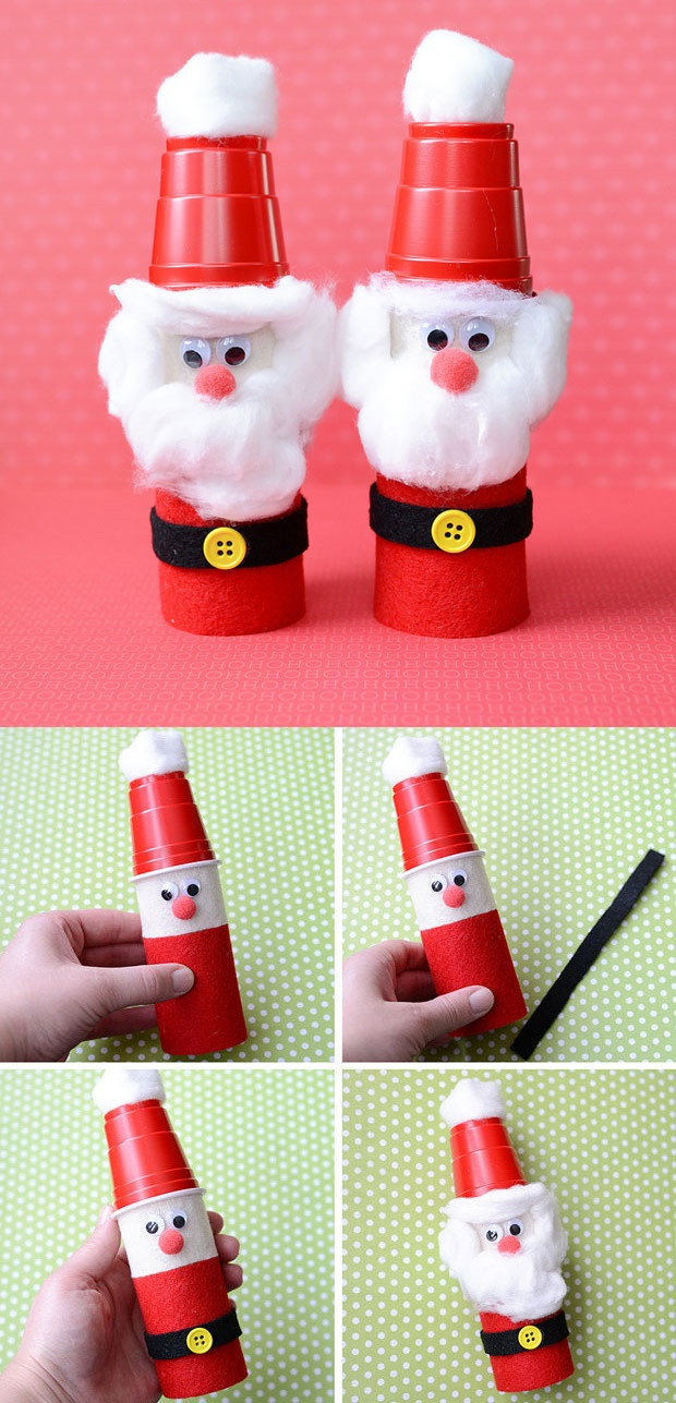 Toilet Paper Roll Christmas Craft  christmas crafts with toilet paper rolls craftshady