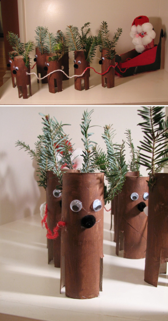 Toilet Paper Roll Christmas Craft  Toilet Paper Roll Crafts Kids Kubby
