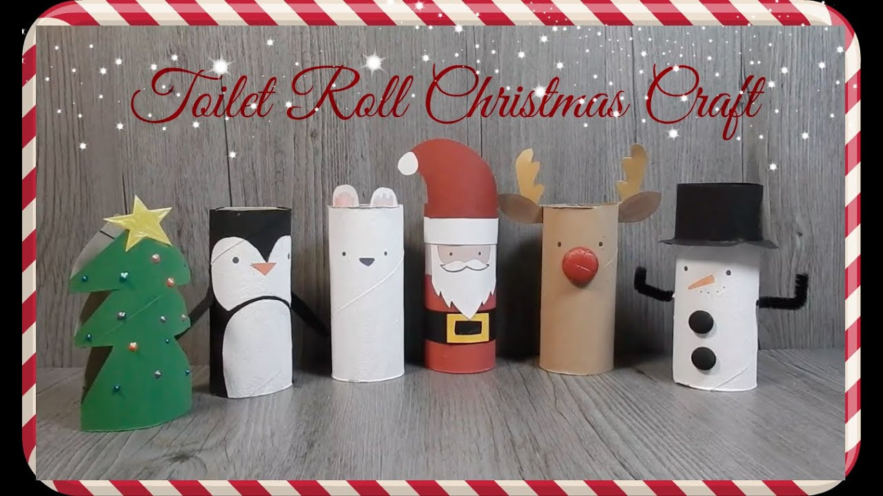 Toilet Paper Roll Christmas Craft  DIY Toilet Paper Roll Christmas Craft Recycle