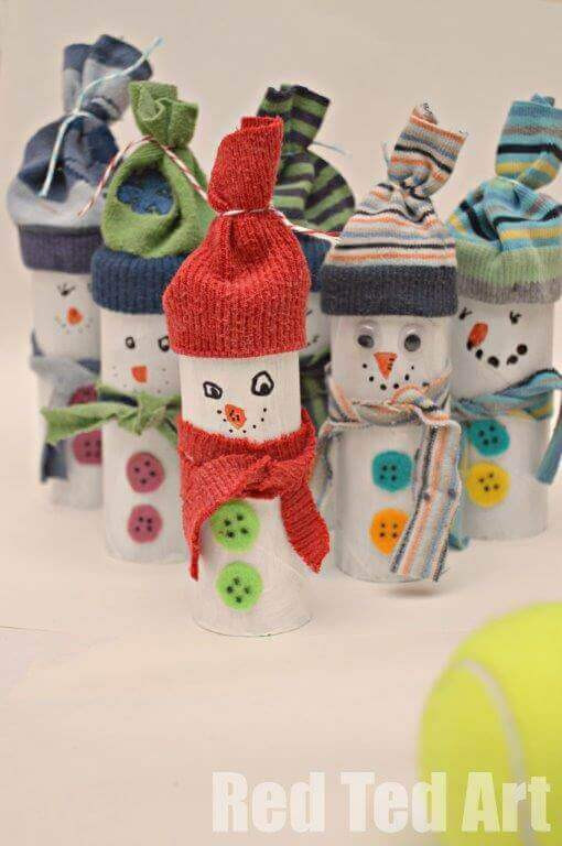 Toilet Paper Roll Christmas Craft  28 Christmas Crafts Made From Toilet Paper Rolls