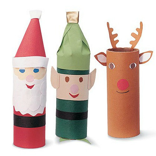 Toilet Paper Roll Christmas Crafts  Easy Christmas Craft Ideas for Kids Root Beer Reindeer