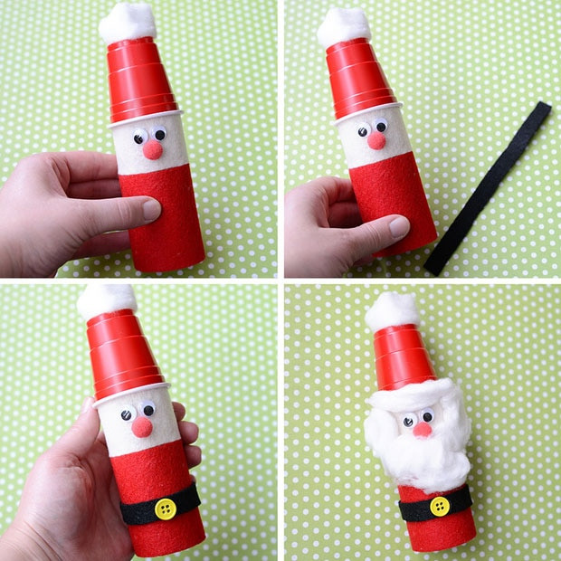 Toilet Paper Roll Christmas Crafts  Cute Christmas Craft for Kids Toilet Paper Roll Santas