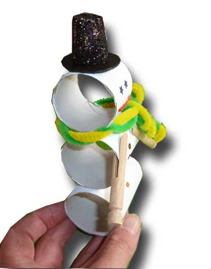Toilet Paper Roll Christmas Crafts  Paper Crafts for Children Toilet Paper Roll Snowman