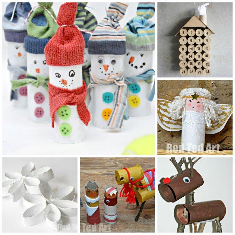 Toilet Paper Roll Christmas Crafts  12 Toilet Paper Roll Christmas Crafts Red Ted Art