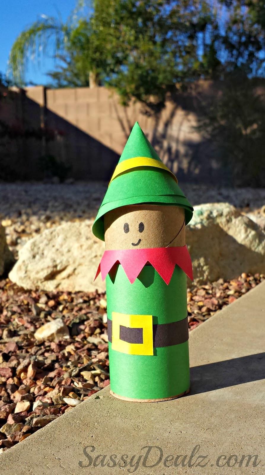 Toilet Paper Roll Christmas Crafts  Santa s Elf Toilet Paper Roll Craft For Kids Crafty Morning