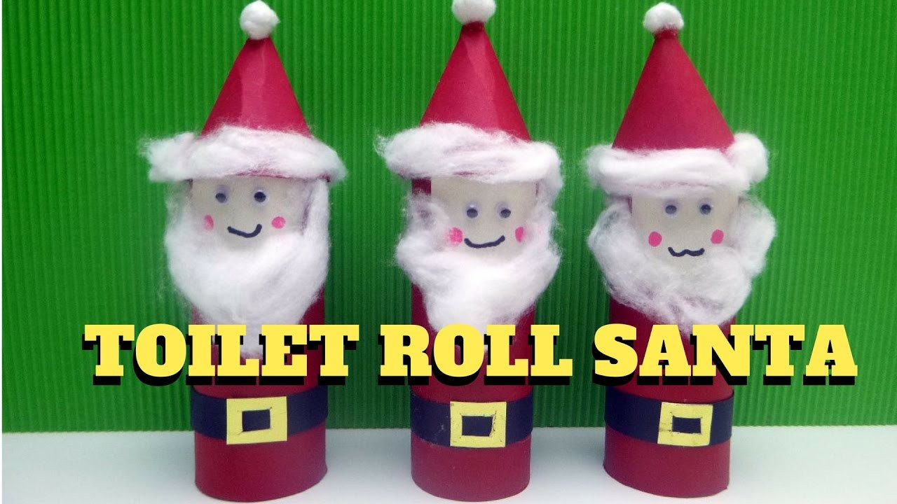 Toilet Paper Roll Christmas Crafts  Christmas Craft Toilet Paper Roll Santa Claus Toilet