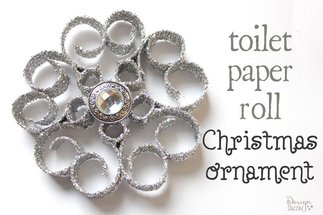Toilet Paper Roll Christmas Ornaments  Christmas ornaments made from recycled toilet paper rolls