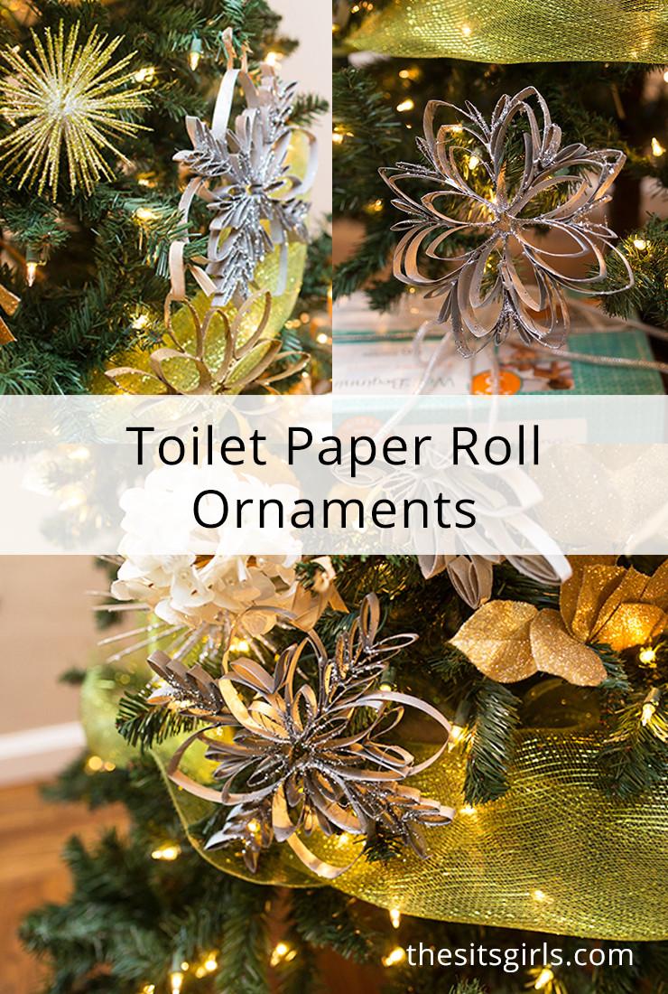 Toilet Paper Roll Christmas Ornaments  Handmade Christmas Tree Ornaments