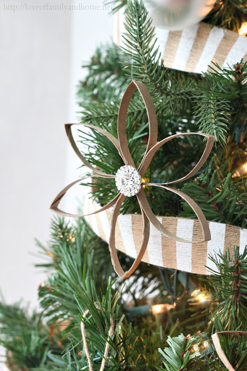 Toilet Paper Roll Christmas Ornaments  DIY Christmas Ornaments Love of Family & Home