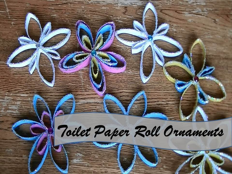 Toilet Paper Roll Christmas Ornaments  DIY Paper Towel Roll Ornaments