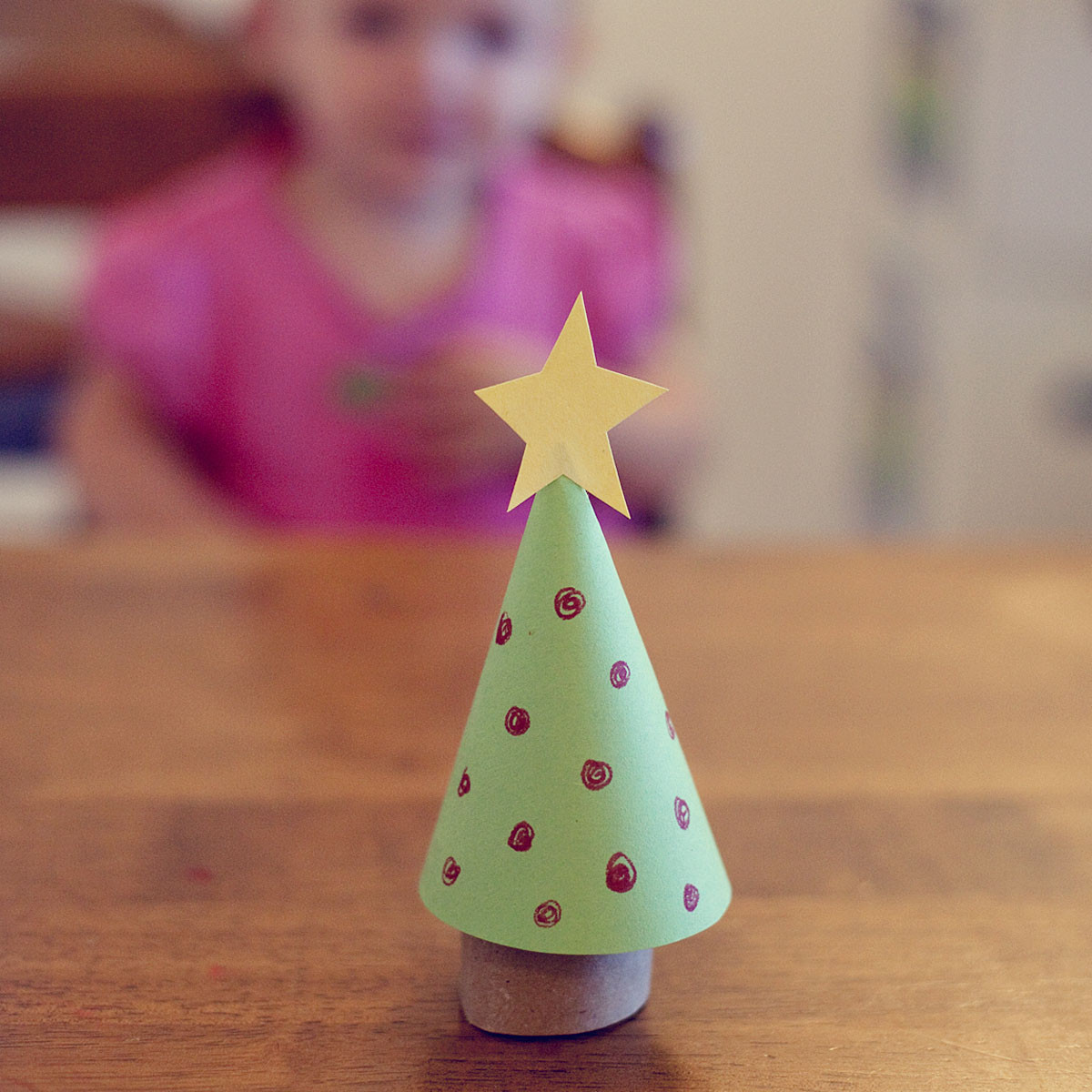 Toilet Paper Roll Christmas Tree  free printable a roundup of Christmas ideas