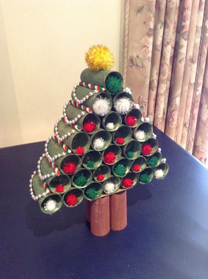 Toilet Paper Roll Christmas Tree  Christmas tree out of toilet paper rolls