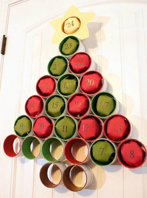 Toilet Paper Roll Christmas Tree  21 DIY Alternative Christmas Tree Ideas for Festive mood