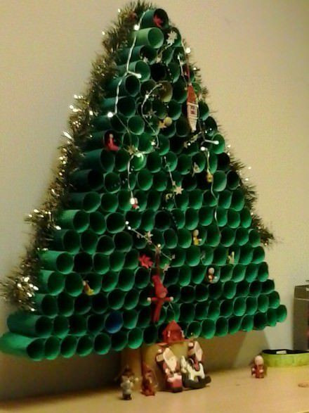 Toilet Paper Roll Christmas Tree  Toilet Paper Roll Christmas Tree
