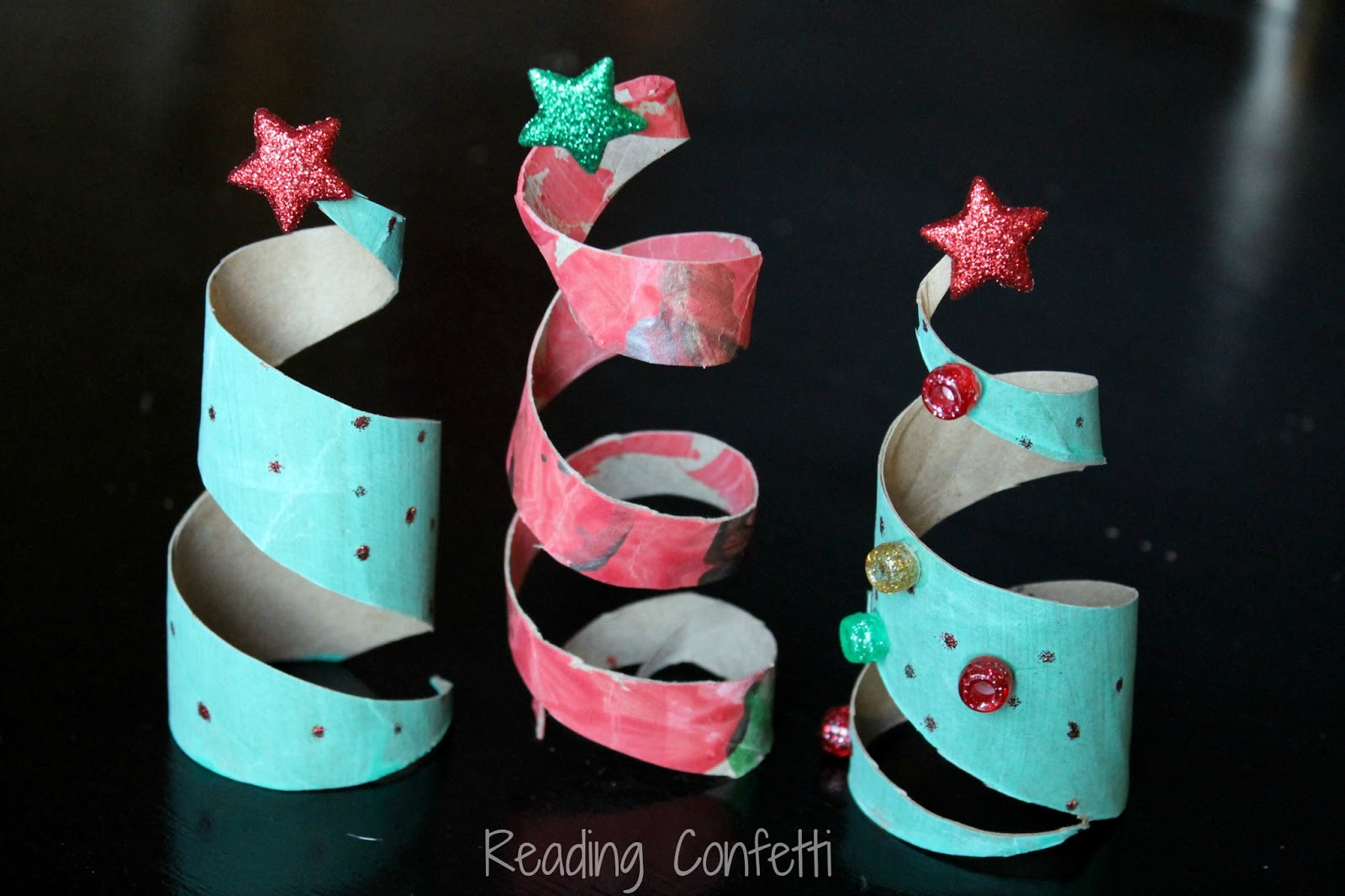 Toilet Paper Roll Christmas Tree  Toilet Paper Roll Christmas Trees Reading Confetti