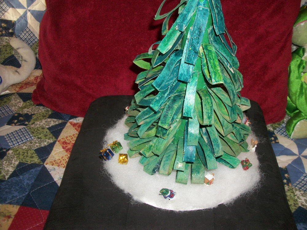 Toilet Paper Roll Christmas Tree  Toilet Paper Roll Tabletop Christmas Tree