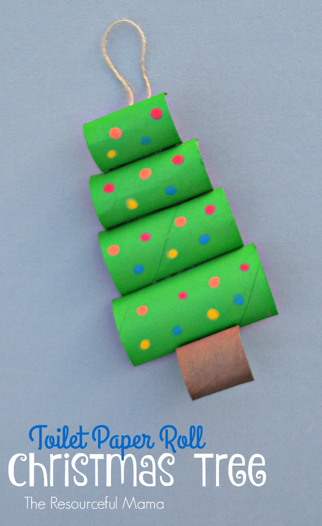 Toilet Paper Roll Christmas Tree  18 Awesome DIY Christmas Tree Crafts