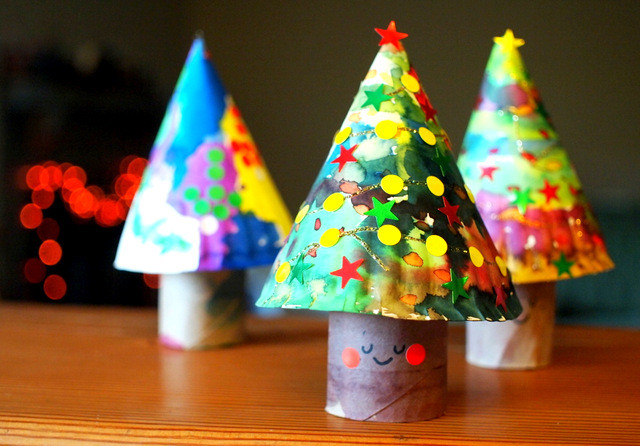 Toilet Paper Roll Christmas Tree  3D Paper Plate Christmas Trees