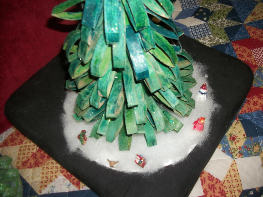 Toilet Paper Roll Christmas Tree  Recycled Toilet Paper Roll Tabletop Christmas Tree