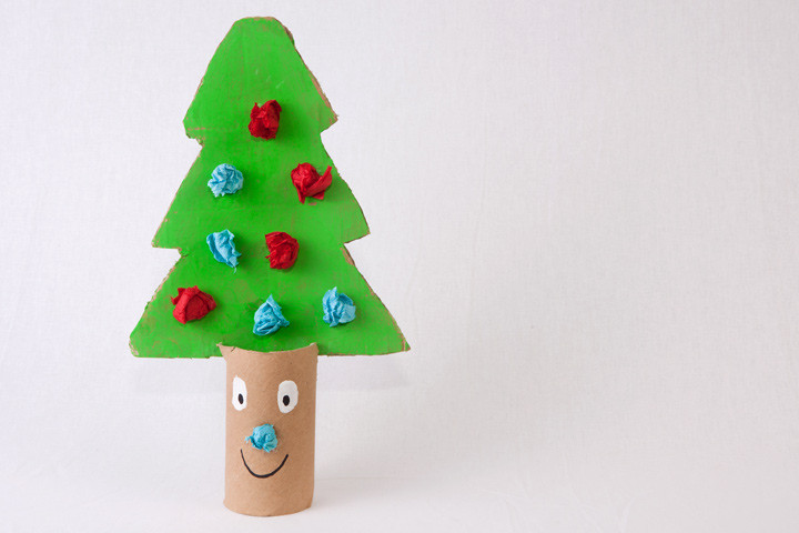 Toilet Paper Roll Christmas Tree  25 Easy Christmas Crafts For Toddlers