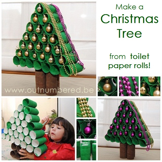 Toilet Paper Roll Christmas Tree  Out Went the Light Craft Crap