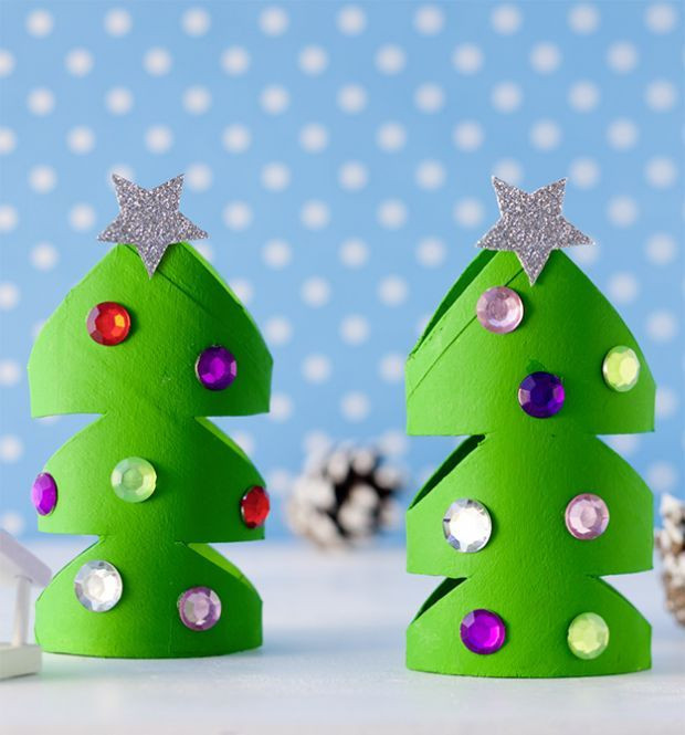 Toilet Paper Roll Christmas Tree  Toilet Paper Roll Christmas Tree Das Klorollen