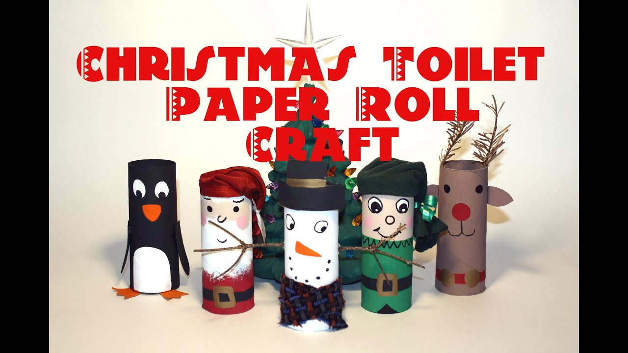 Toilet Paper Roll Crafts Christmas  DIY Christmas Decorations Recycled Toilet Paper Roll
