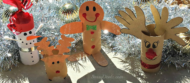 Toilet Paper Roll Crafts Christmas  DIY Christmas Toilet Paper Roll Craft Ideas For Kids